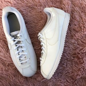 Never Worn All White Nike Cortez Sneakers